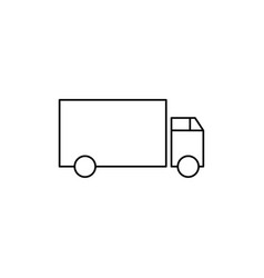 lorry icon vector image vector image