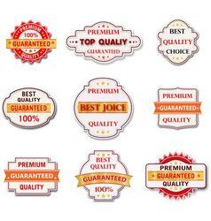 Vintage label set Vintage label set vector image