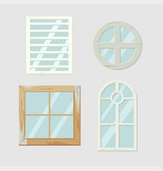 vintage old window frame antiques vector image vector image