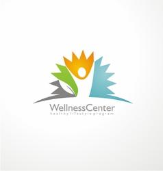 Wellness center logo design concept vector image