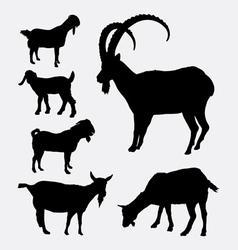 Goat pet animal silhouette vector image