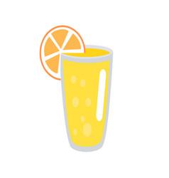 lemonade with orange slice in glass vector image