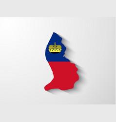 Liechtenstein map with shadow effect vector image vector image