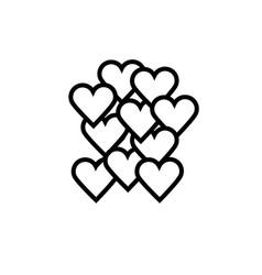 love hearts icon vector image