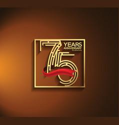 75 years anniversary logotype golden color vector