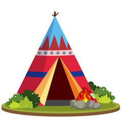 A colourful teepee tent vector