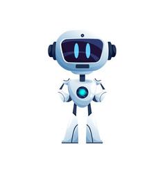 ai intelligence robot isolated bionic humanoid vector image
