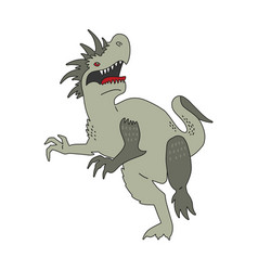 angry fantasy tyrannosaurus with spikes vector image