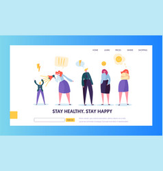 Angry people character making scandal concept vector