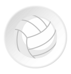 ball for playing volleyball icon circle vector image