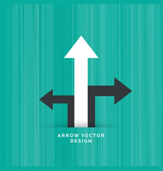 black directional arrow with white arrow moving vector image