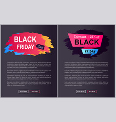 black friday sale -25 off vector image
