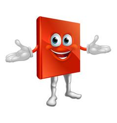 book mascot education character vector image