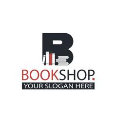 Book store emblem vector