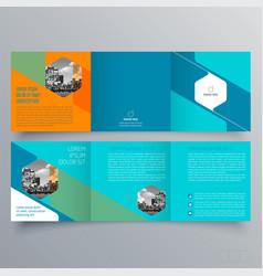 brochure design 1410 vector image
