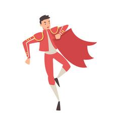 Bullfighter toreador picador character dressed vector