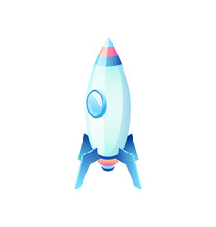 business rocket or spaceship technology vector image
