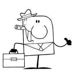 Businessman cartoon vector image