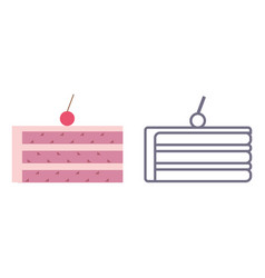 cake icons on isolated background vector image