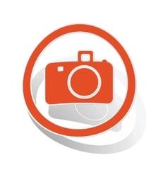 Camera sign sticker orange vector