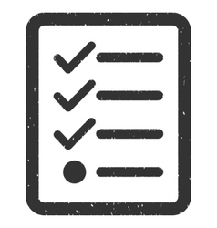 Checklist Icon Rubber Stamp vector