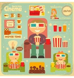 Cinema Retro Poster vector