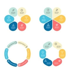 circular infographics with 6 sections vector image