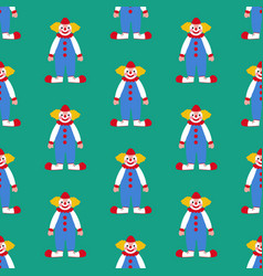 clown seamless pattern vector image