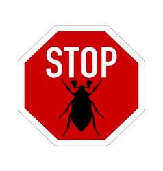 cockchafer traffic sign vector image