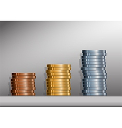 Coin Stacks with Background vector