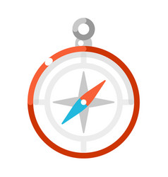 colorful compass flat vector image