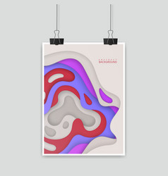 colorful poster size of a4 decoration with paper vector image