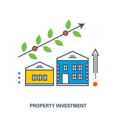 concept - investments in real estate vector image