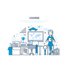 Course system of training distance learning vector