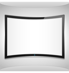 Curved Screen vector image