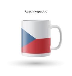 Czech Republic flag souvenir mug on white vector image