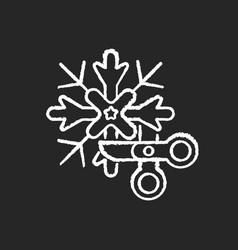 diy snowflakes chalk white icon on black vector image
