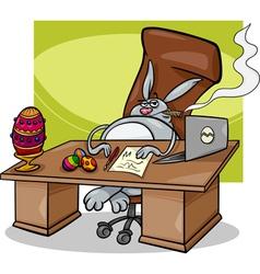 easter bunny businessman cartoon vector image