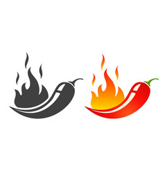 emblems jalapeno or chilli peppers vector image