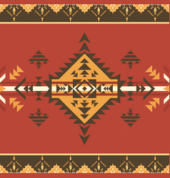 ethnic seamless pattern aztec native american vector image