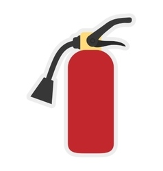 Extinguisher icon Industrial security design vector