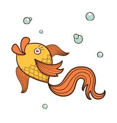 Fish character vector image
