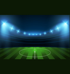 football stadium soccer arena vector image