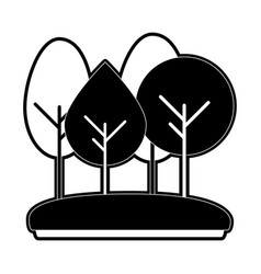 forest trees icon image vector image