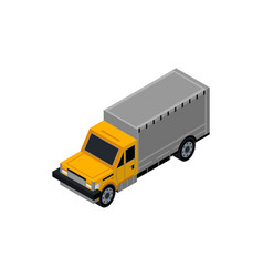 freight truck isometric 3d element vector image