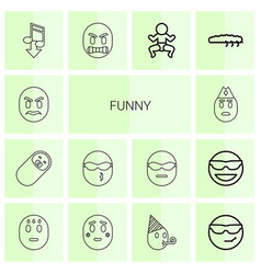 Funny icons vector