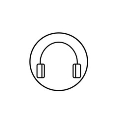 Headphone line icon mobile sign and support vector