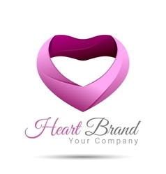 Heart Logo design template Happy vector