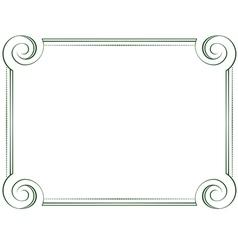 Horizontal frame vector