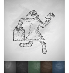 Hurry shopping icon Hand drawn vector